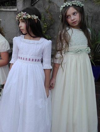 Coronas de niñas de flores preservadas