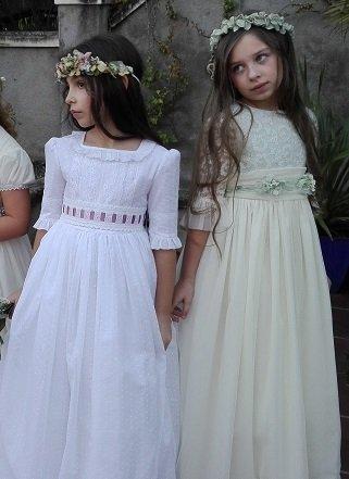 Coronas y cinturones de niñas de comunión