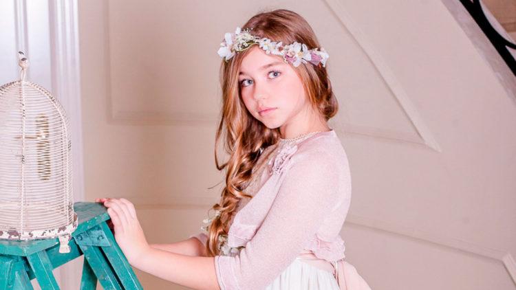 Corona de flores para niñas