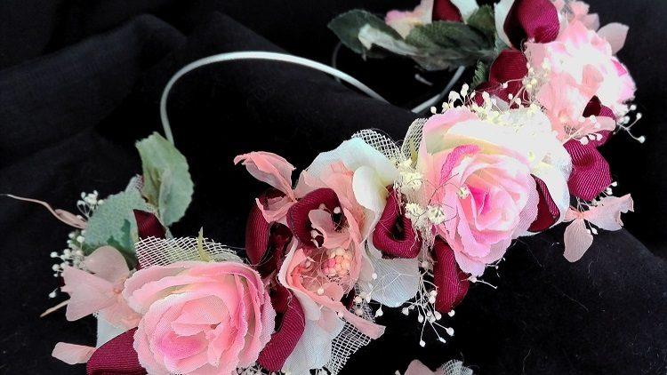 Corona de rosas de arras