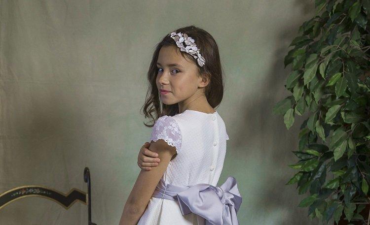 Tiara de porcelana y plata comunión - Ana Tocados y Complementos d933e04eecae