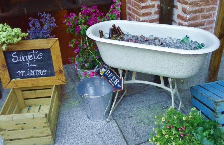 Bañera vintage para botellines