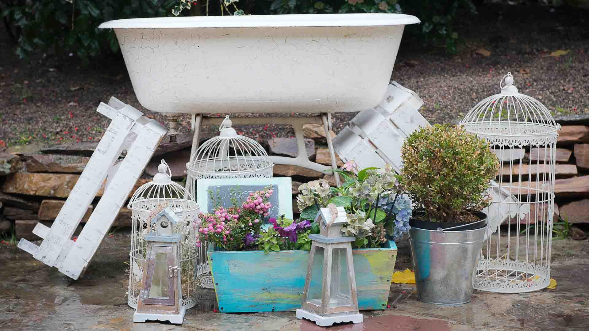 Bañera vintage para refrescos
